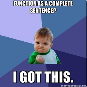 success kid meme when grammar and everyone's favorite memes combine
