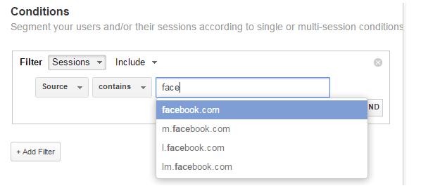 Google Analytics Conditions