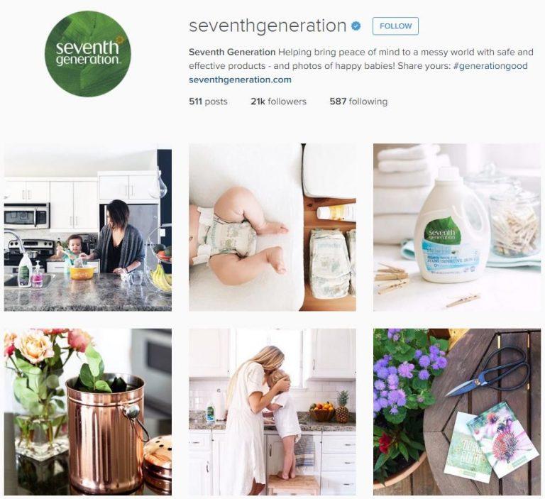 Seventh Generation Instagram