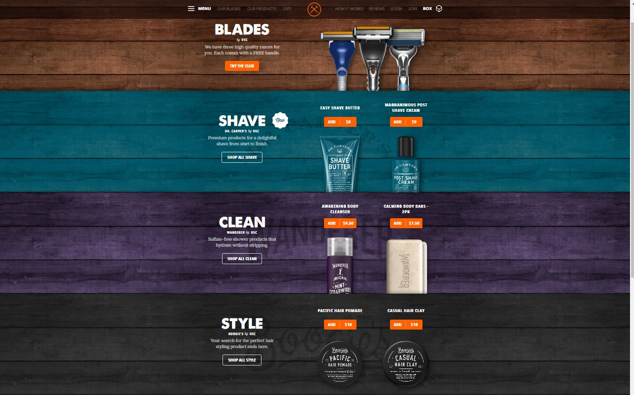 Dollar Shave Club Product Lines