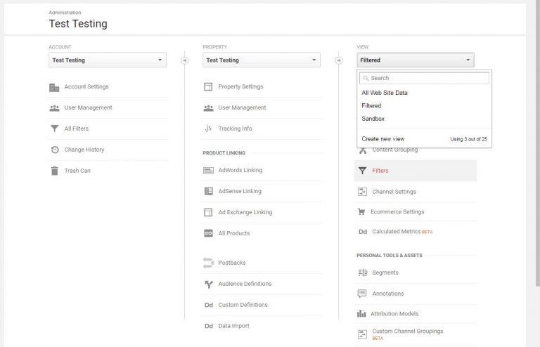 Adding Views in Google Analytics
