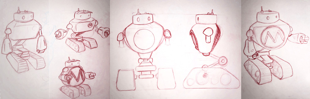 Mainstreethost Robot Sketches