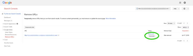 URL Removal