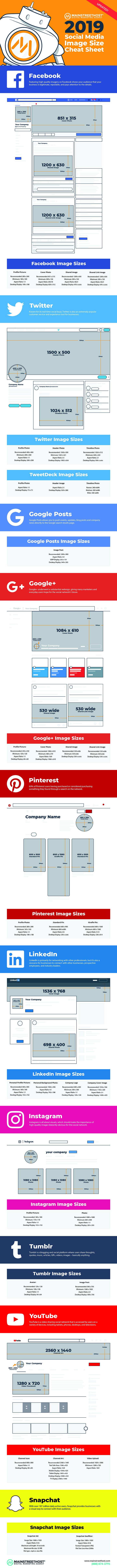 2019 Social Media Image Dimensions [Cheat Sheet]